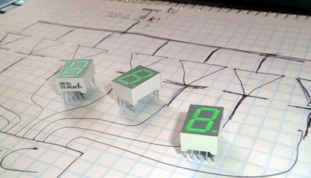 Planning the development of a 7-segment display circuit