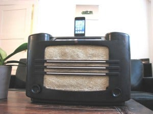 Modified radio iphone dock project