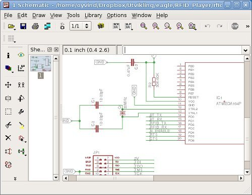 Screenshot of Eagle PCB Design Software