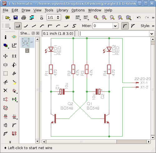 PCB Design Software Screenshot of Eagle