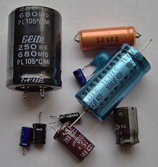 Capacitors in the electronic component guide