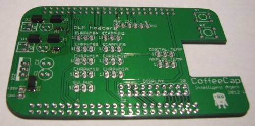 Finished board using reflow soldering