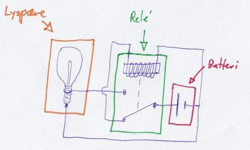 The simplest flashing light circuit