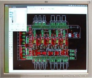 Photo of a PCB Design screen
