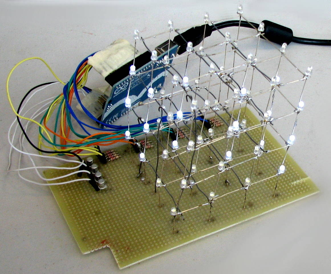 What is arduino and where to start build electronic circuits led cube with arduino solutioingenieria Image collections