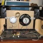 Speaker placed inside radio