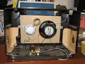 Speaker placed inside radio