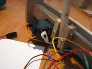 Servo motor for the gong timer project