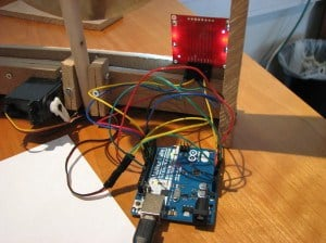 Display + arduino + servo
