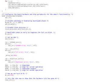 Microcontroller programming code