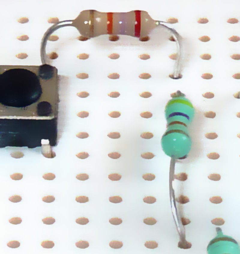 Voltage Divider Made With Resistors