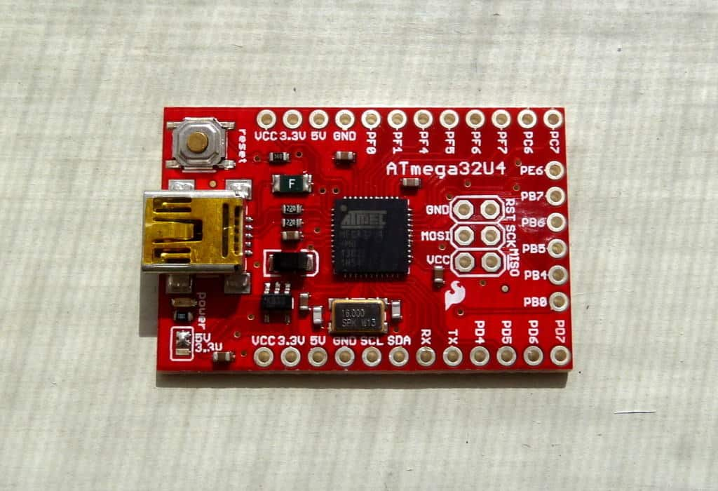 Microcontroller Board ATmega32u4 from Sparkfun