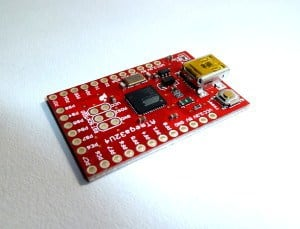 Microcontroller breakout board from Sparkfun