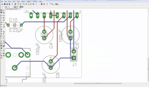 Amplifier tutorial circuit board screenshot