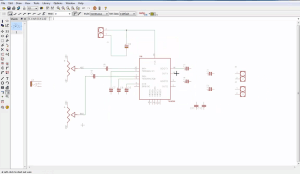 Amplifier tutorial schematic screenshot