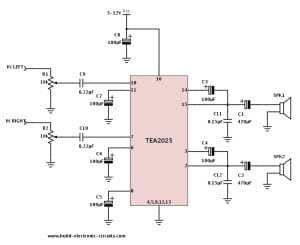 Stereo amplifier schematic