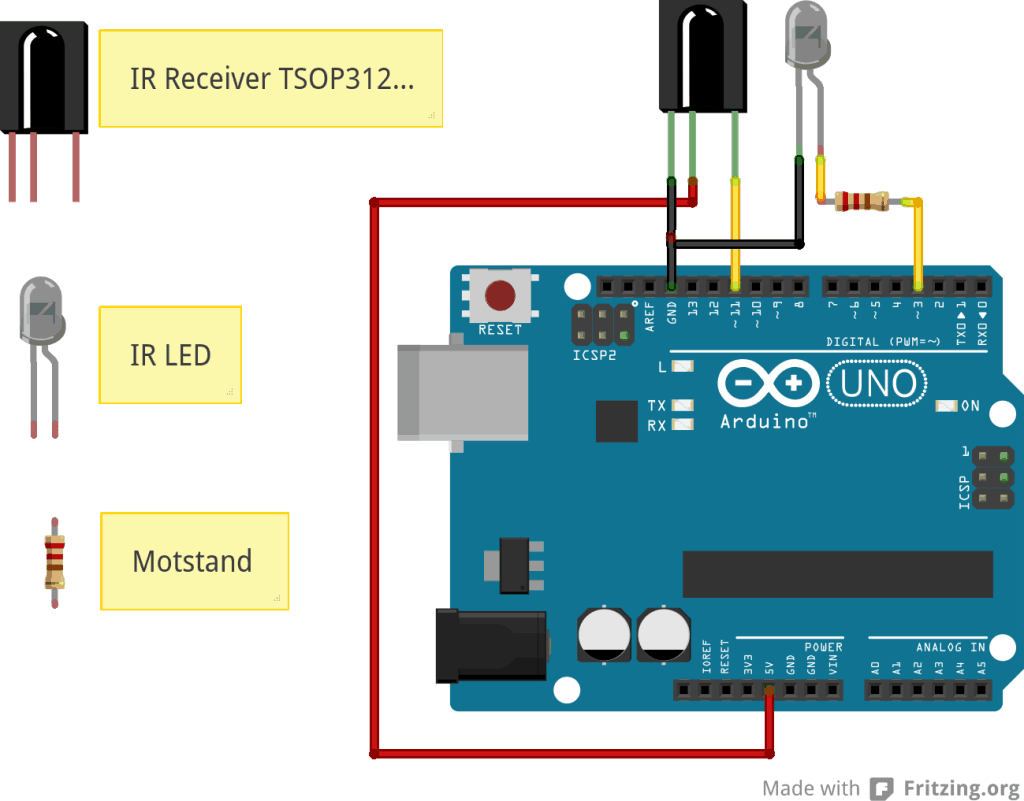 Arduino Remote Control Connection Diagram