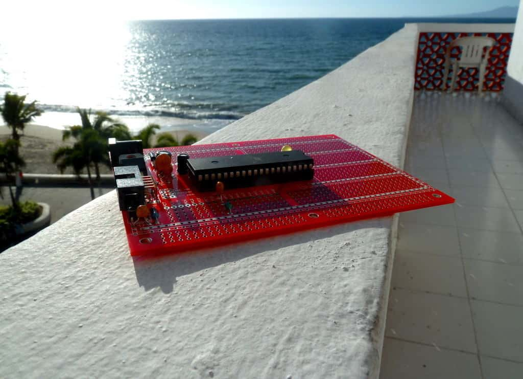 Protostack board in the sun