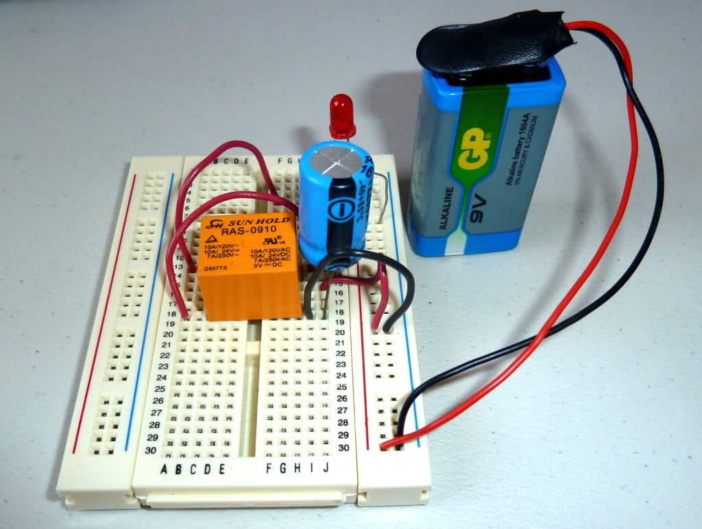 blink led relay breadboard 1024x772 blinking led circuit with schematics and explanation Doorbell Wiring-Diagram Two Chimes at mifinder.co