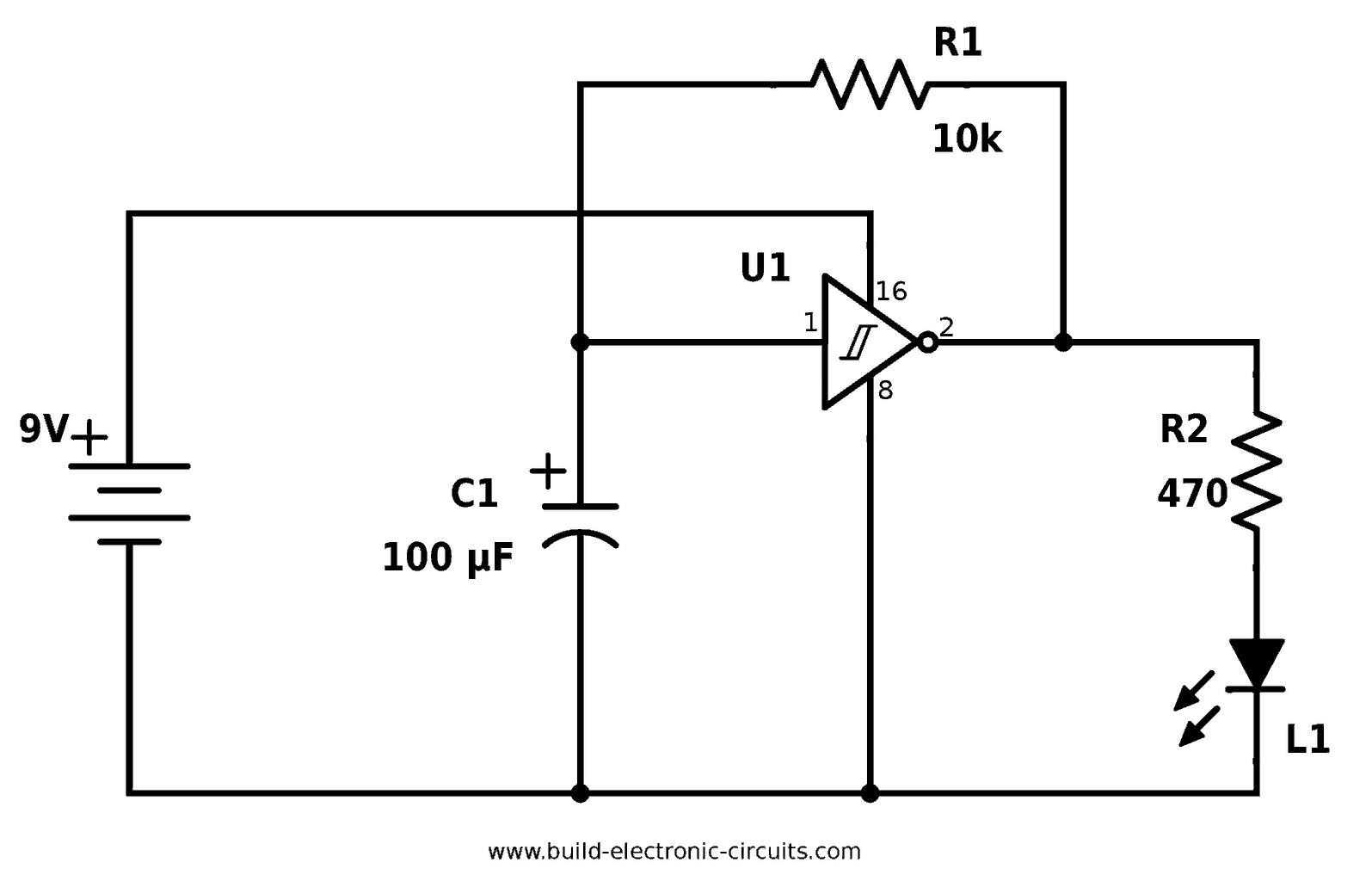 Electrical And Electronics Circuit April 2018 Flashing Leds Is To Use A Single Transistor Or An Inverter This One Of The Easiest Ways Blink Led