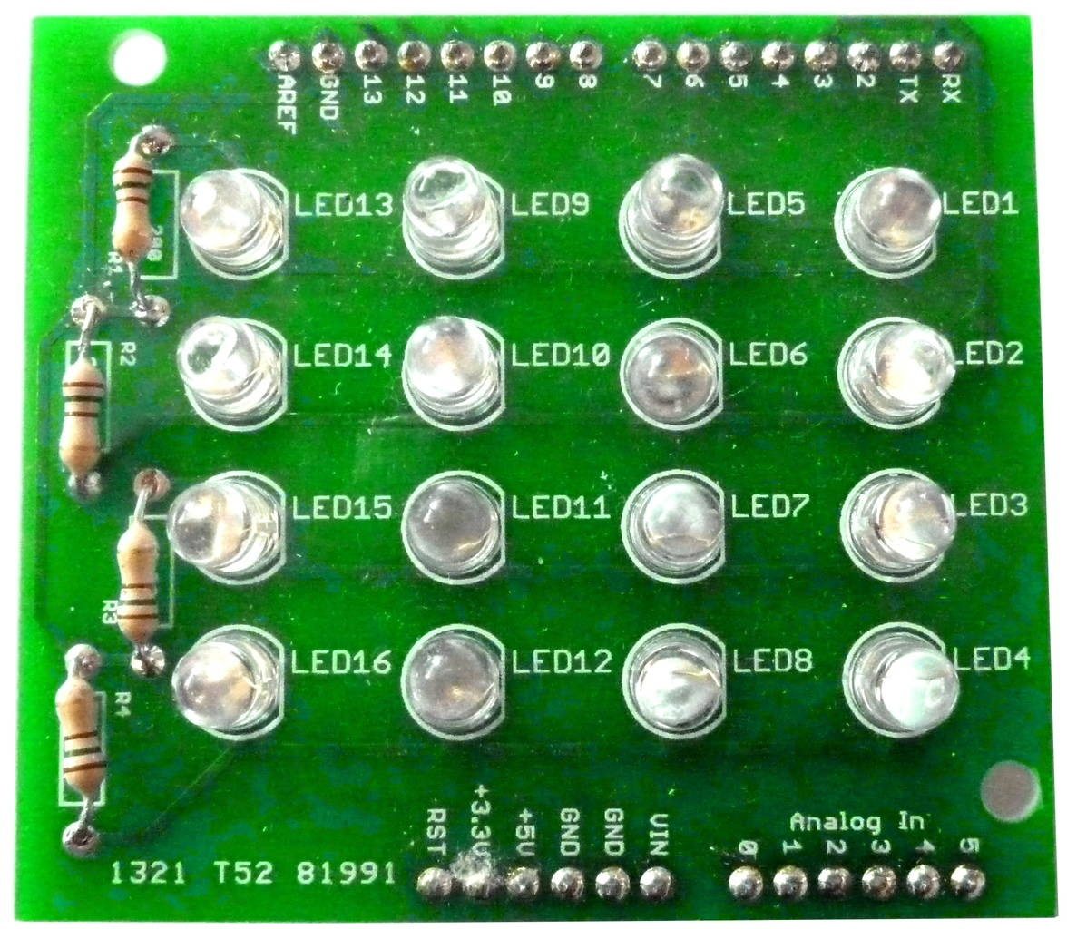 Electronic kits for gettings started in electronics build arduino shield led matrix kit solutioingenieria Choice Image