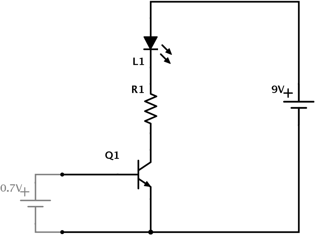 transistor circuit explanation 1024x771 how transistors work a simple explanation simple circuit diagram at fashall.co