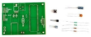 Electronic kits come with components and circuit board