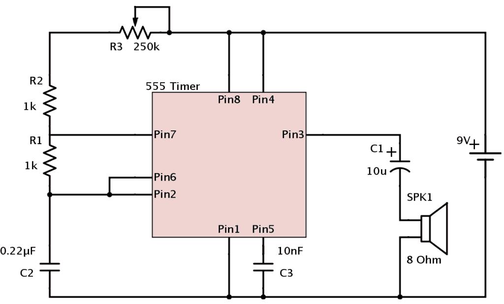 555 timer metronome circuit