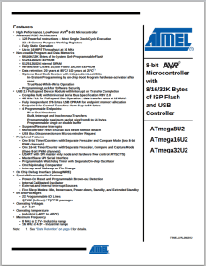 Frontpage of a datasheet