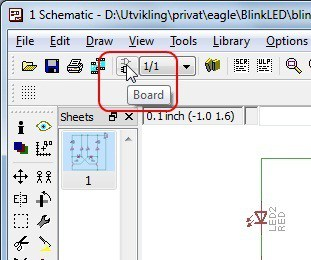 Create board from schematic in eagle