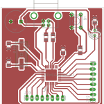 ATmega32U2 circuit board layout