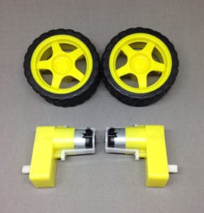 Wheels and motors for a robot