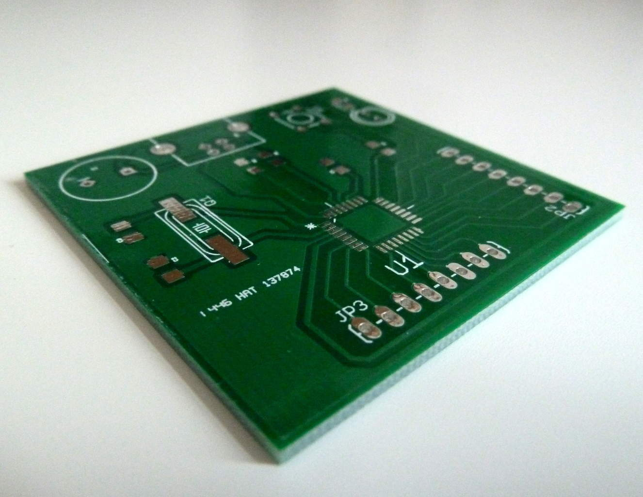 Microcontroller Tutorial 5 Soldering And Programming Here Is The Final Circuit Image With Extra Thick Traces Large Pads Pcb