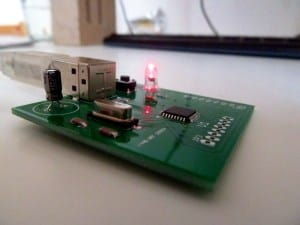 Finished circuit for the microcontroller tutorial