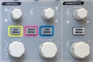 Oscilloscope settings knobs