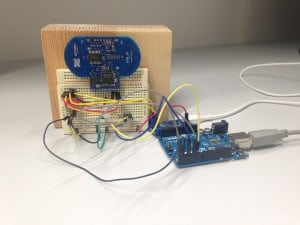 Arduino radar project on a breadboard