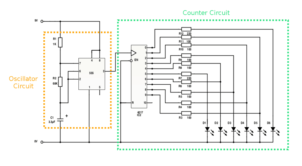 free electronic circuits and schematics online Digital Circuits Projects knight rider light bar circuit diagram