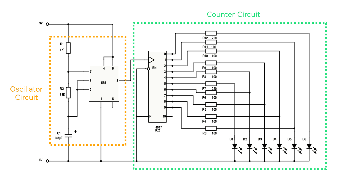 Knight-Rider-Light-Bar-Circuit-Diagram