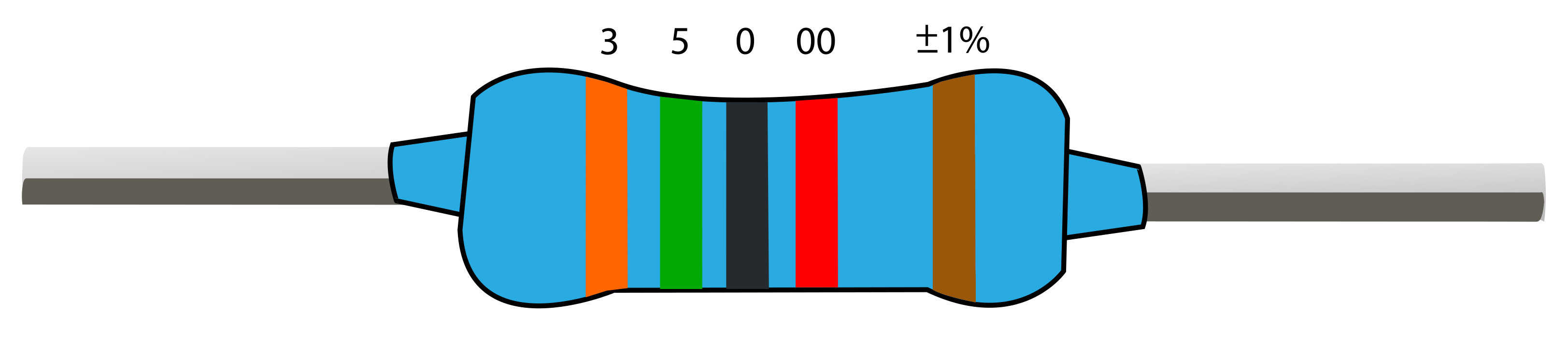 Resistor Color Codes on 47k resistor
