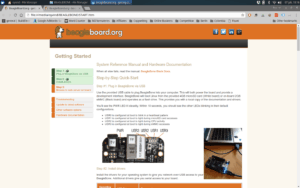 Beaglebone Black First Screen