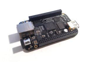 BeagleBone Black on white background