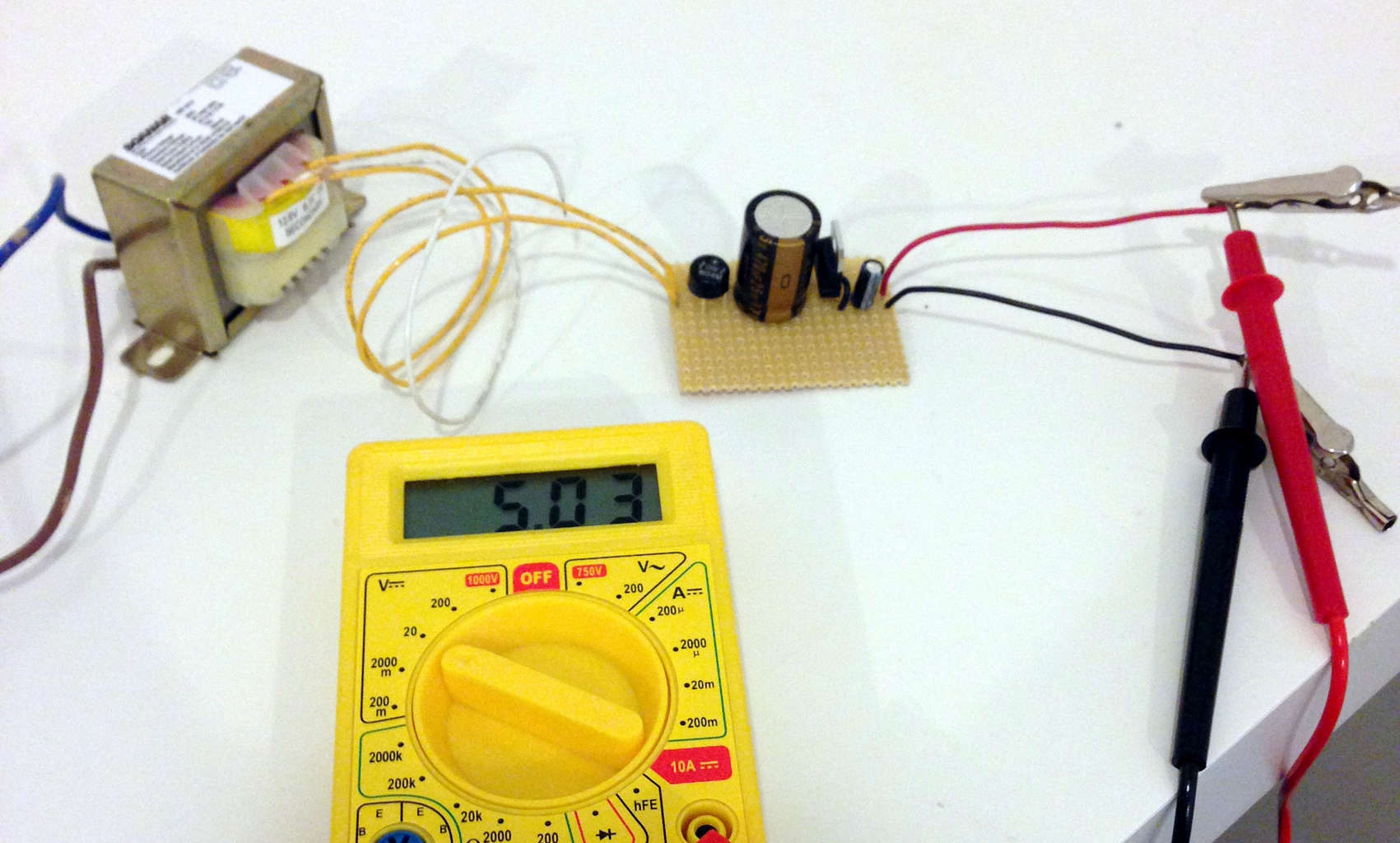 Snap The Simplest Power Supply Circuit Build Electronic Circuits Simple 8amp Regulated Diagram