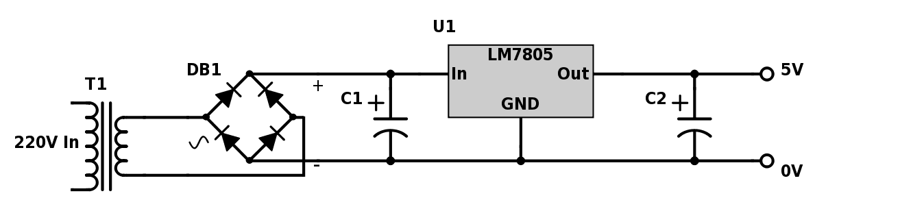 Power Supply Circuit on voltage regulator diagram