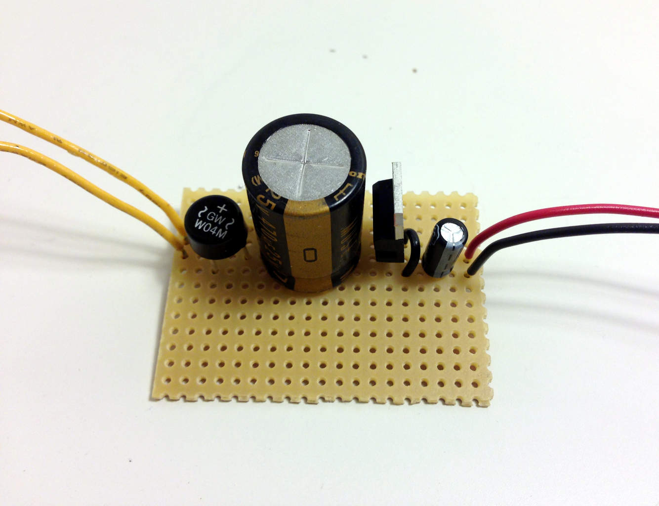 The Simplest Power Supply Circuit Build Electronic Circuits Lm317 Capacitor Question Finished