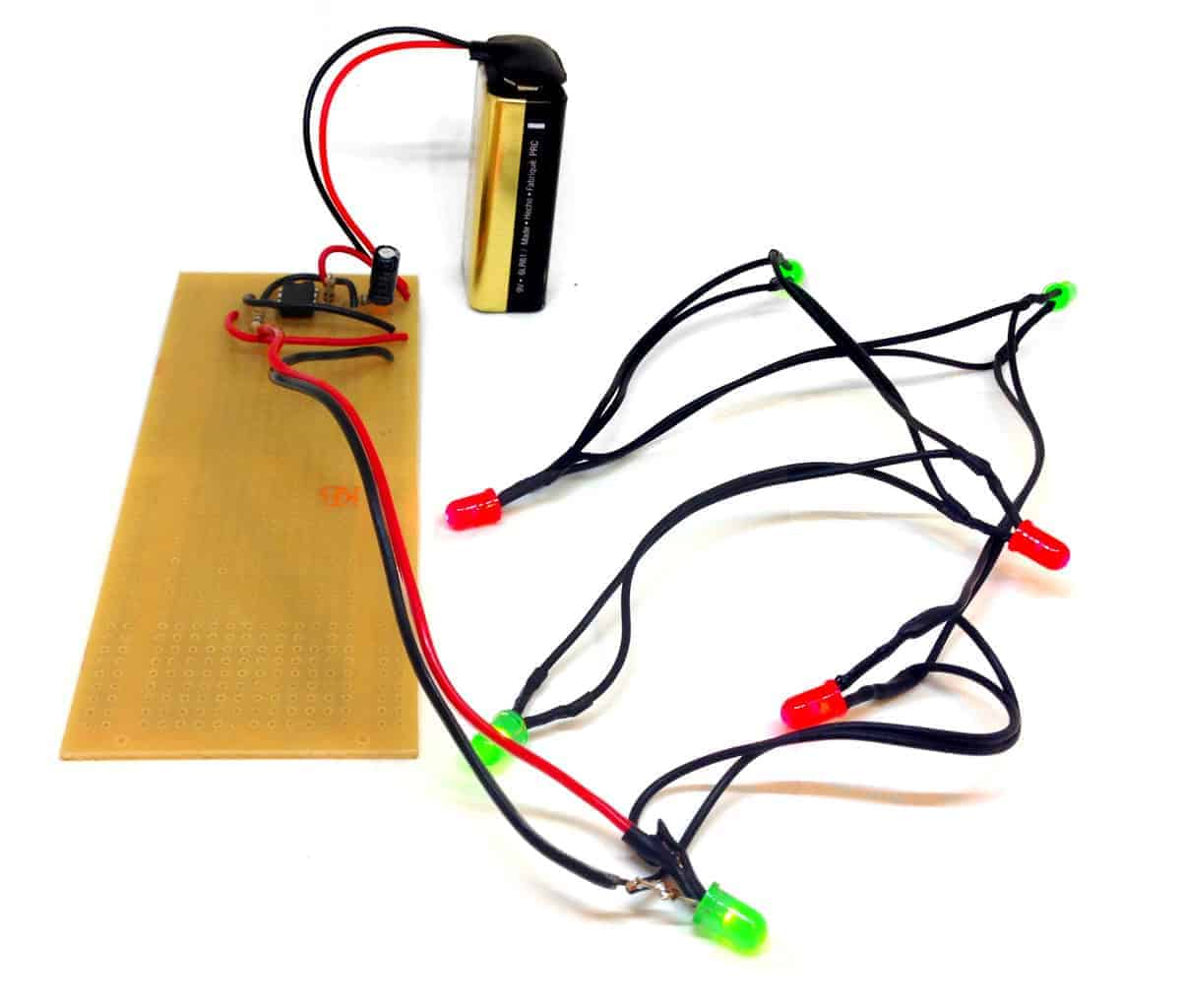 Blinking Christmas Lights Build Electronic Circuits Electronix The Alternating Led Flasher Circuit With A 555 Ic