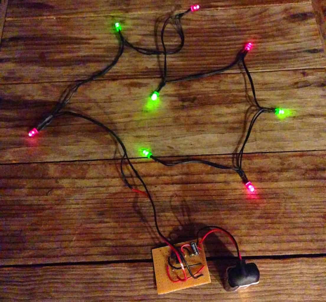 Blinking Christmas Lights Build Electronic Circuits Parallel Circuit Breadboard The Read Board Is Broken Up