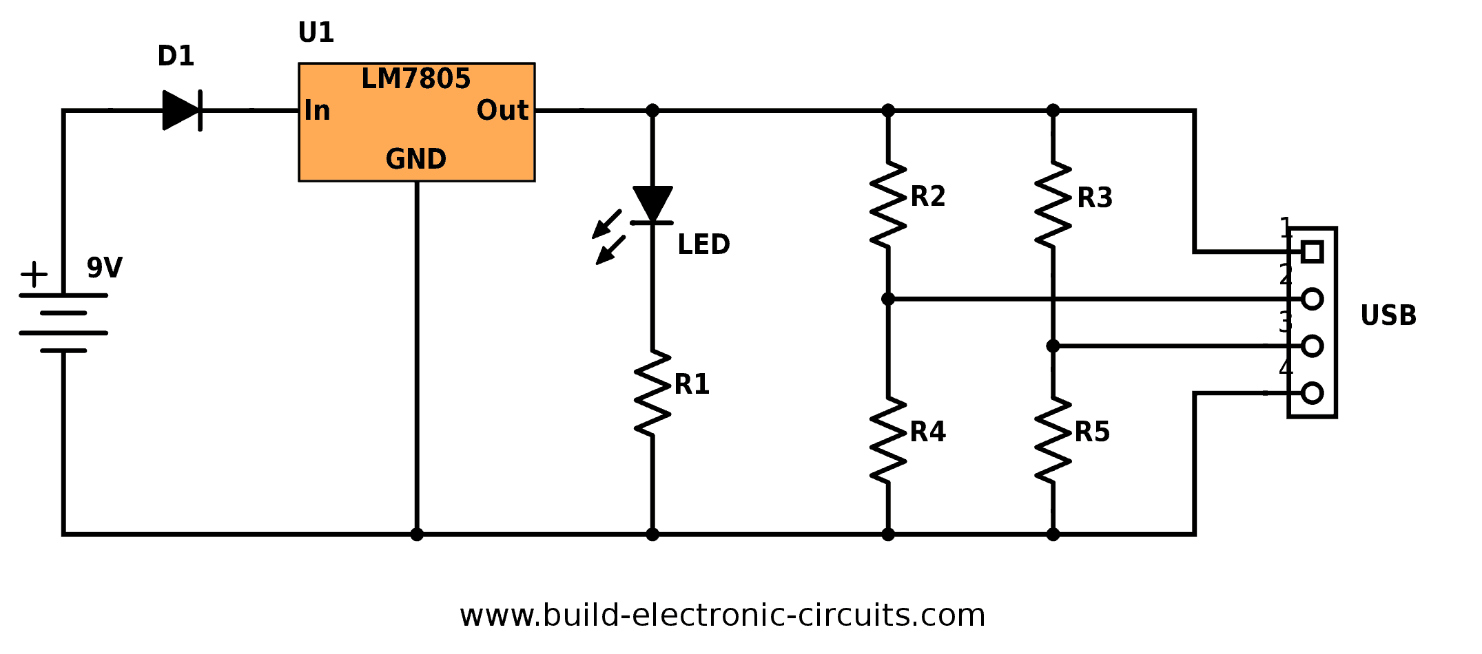portable usb charger circuit diagram