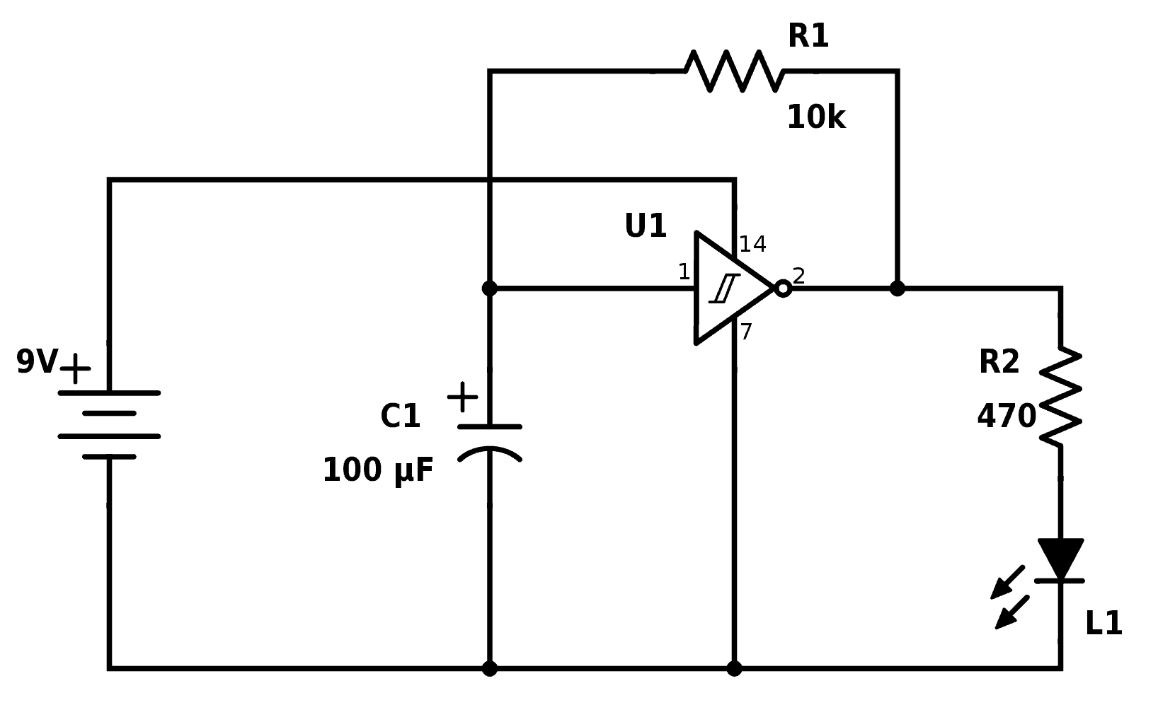 Simple Circuit Involving Timer 555 The Pcb Layout And The Schematic