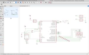 Schematics view in Eagle