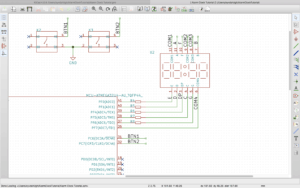 Schematics view of Kicad